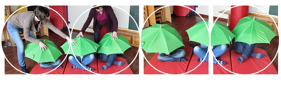Regenschirmmedikament schützt